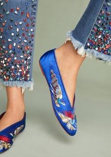 Llani x Anthropologie Embellished Satin Ballet Slippers