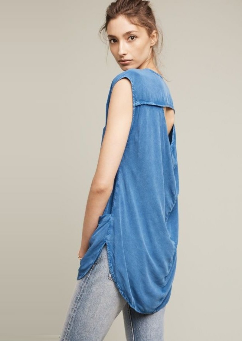Anthropologie Lodge Open-Back Top