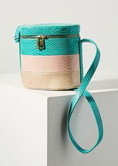 Anthropologie Louisa Striped Bucket Bag