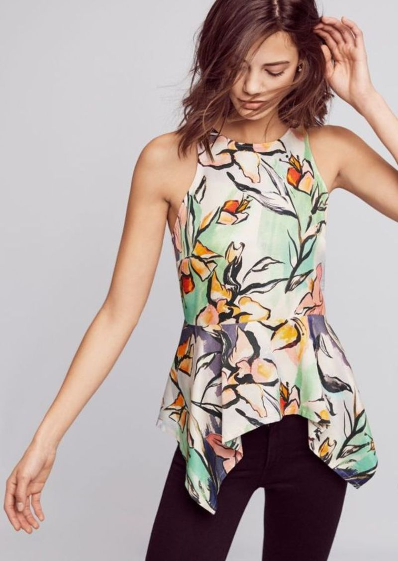 Anthropologie Lucille Peplum Blouse