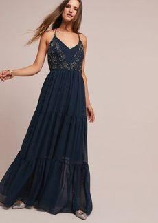 Anthropologie Lucinda Beaded Maxi Dress