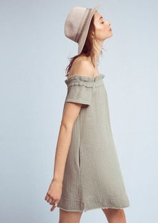Anthropologie Maella Off-The-Shoulder Tunic Dress