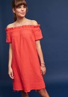 Anthropologie Maella Off-The-Shoulder Tunic Dress