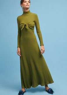 Mara Hoffman Ribbed Tie-Front Midi Dress