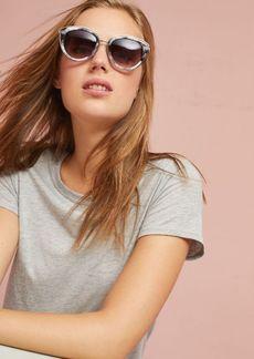 Marbled Cat-Eye Sunglasses