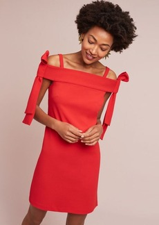 Anthropologie Marcella Off-The-Shoulder Bow Dress