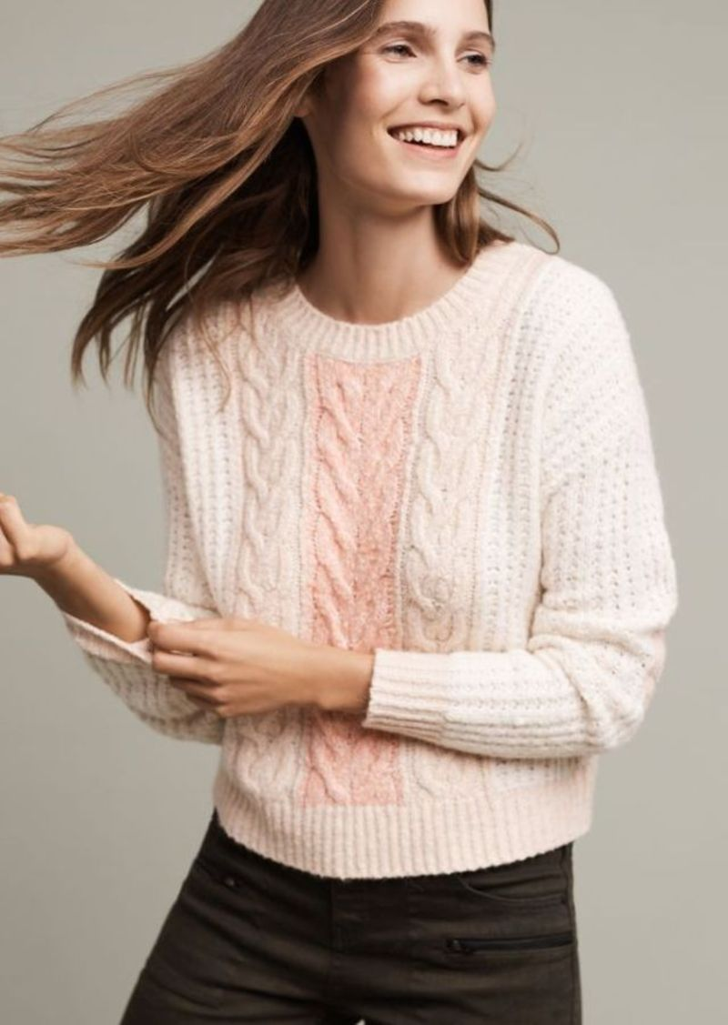 Anthropologie Marie Cabled Pullover