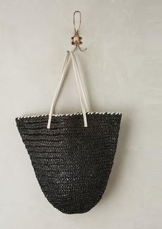 Anthropologie Market Straw Bucket Bag