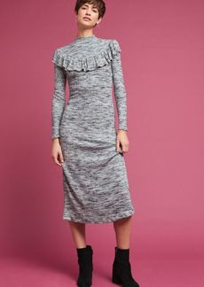 Marled Ruffled Dress