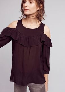 Anthropologie Mavra Open-Shoulder Blouse