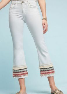 McGuire Ambrosio Embroidered Mid-Rise Cropped Bootcut Jeans