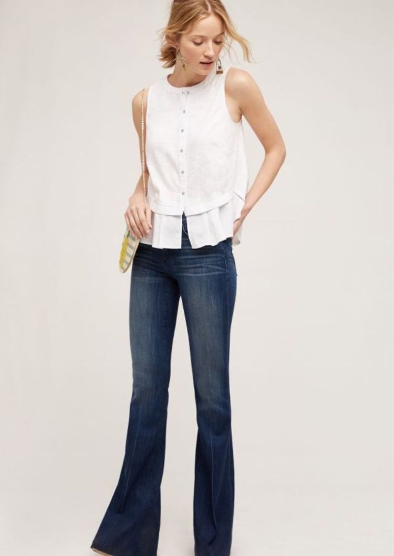 Anthropologie McGuire Majorelle Mid-Rise Flare Jeans