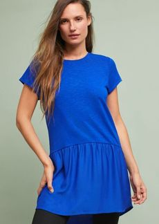 Anthropologie Metallic Peplum Tunic