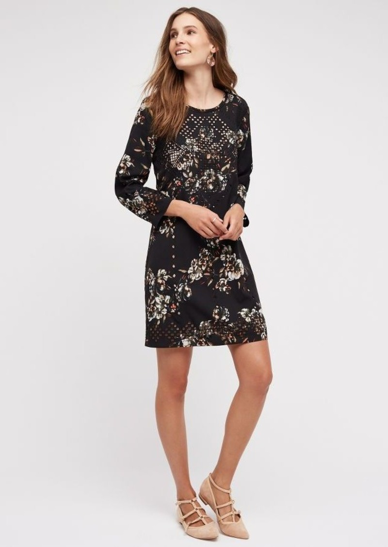 Anthropologie Midnight Blossom Dress