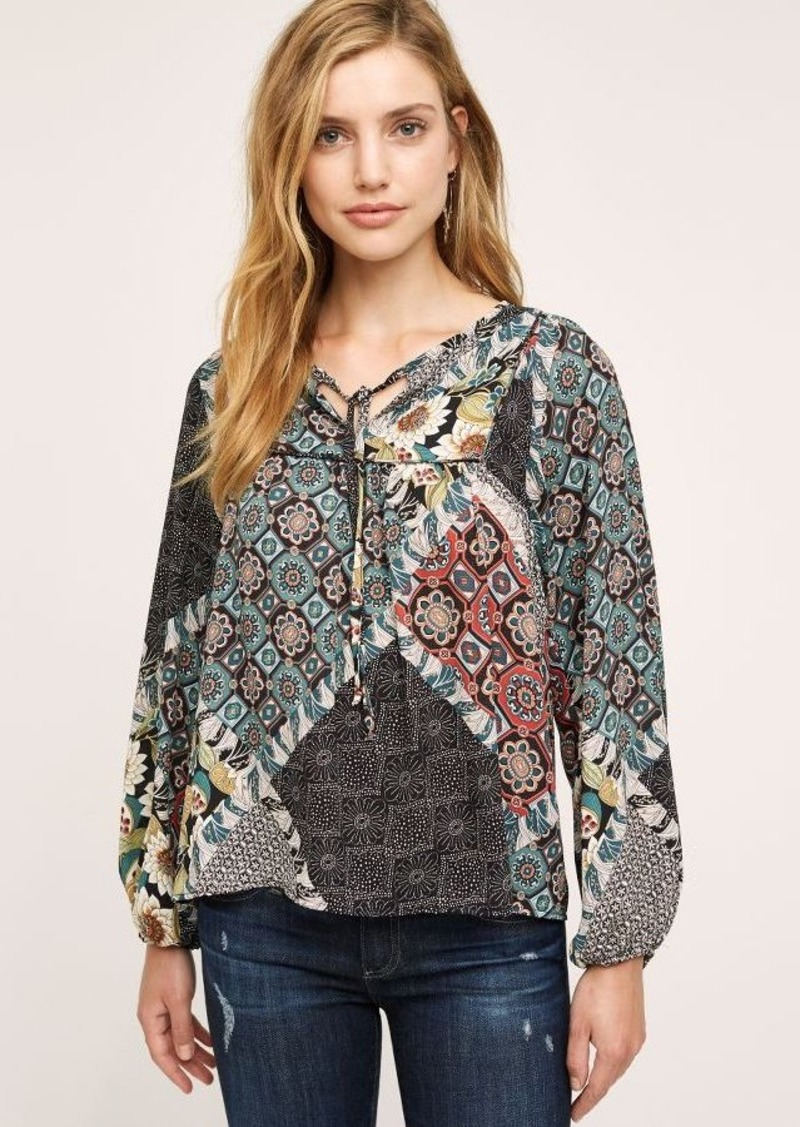 Anthropologie Mixie Peasant Top