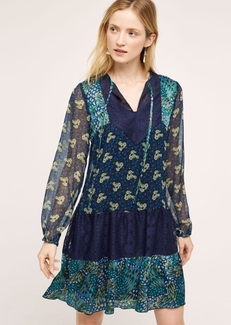 Anthropologie Mixte Silk Peasant Dress
