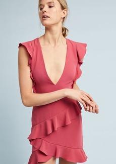 ML Monique Lhuillier Asymmetrical Ruffle Dress