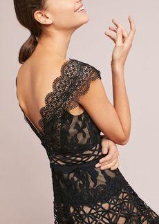 ML Monique Lhuillier Black Lace Dress