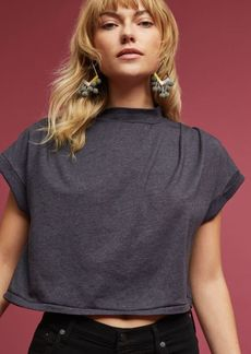 Mock Neck Cropped Tee