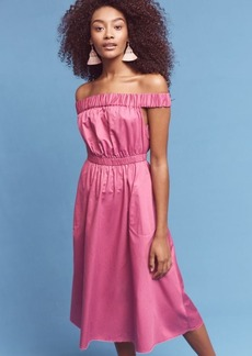 Anthropologie Mona Off-The-Shoulder Dress