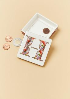 Anthropologie Monogram Lidded Jewelry Box