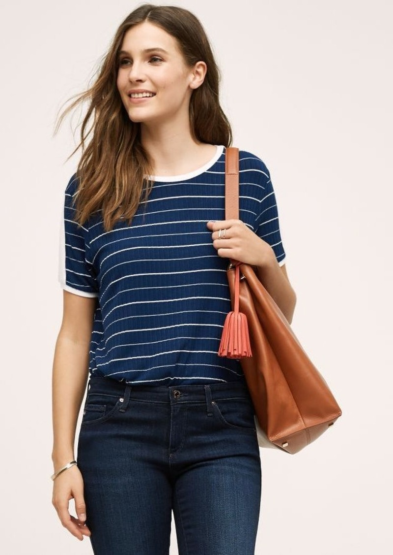 Anthropologie Morgan Striped Tee