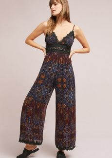 Anthropologie Mosaic Lace-Trimmed Jumpsuit
