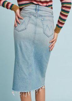 Anthropologie MOTHER Frayed Denim Skirt