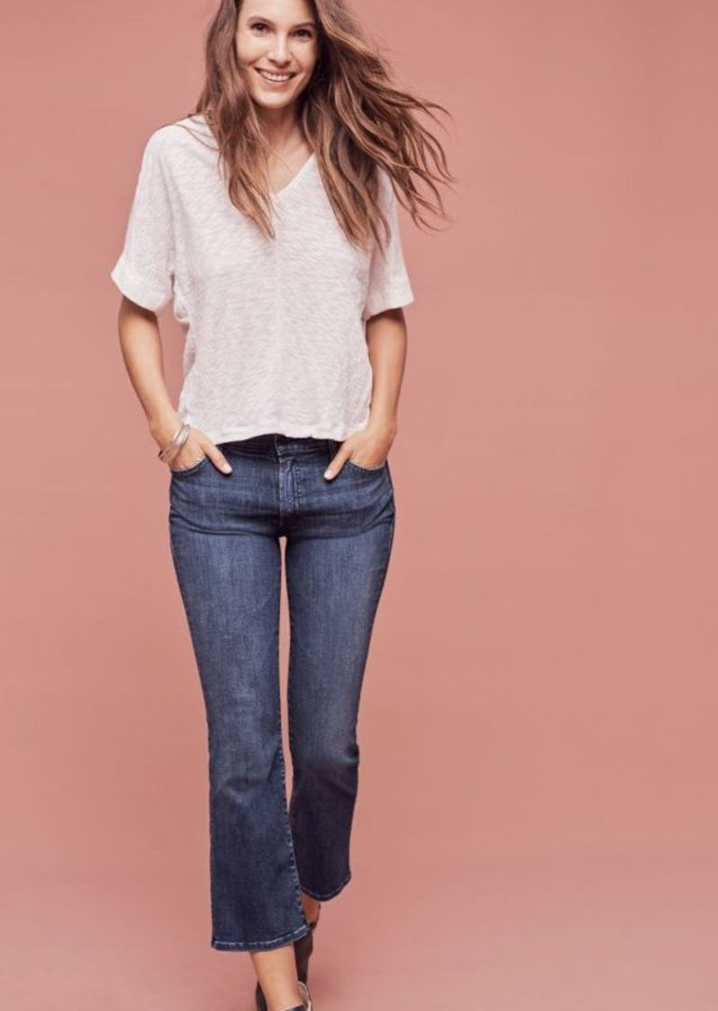 Anthropologie Mother Insider Crop High-Rise Straight Jeans
