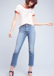 Anthropologie Mother The Rascal High-Rise Straight Jeans