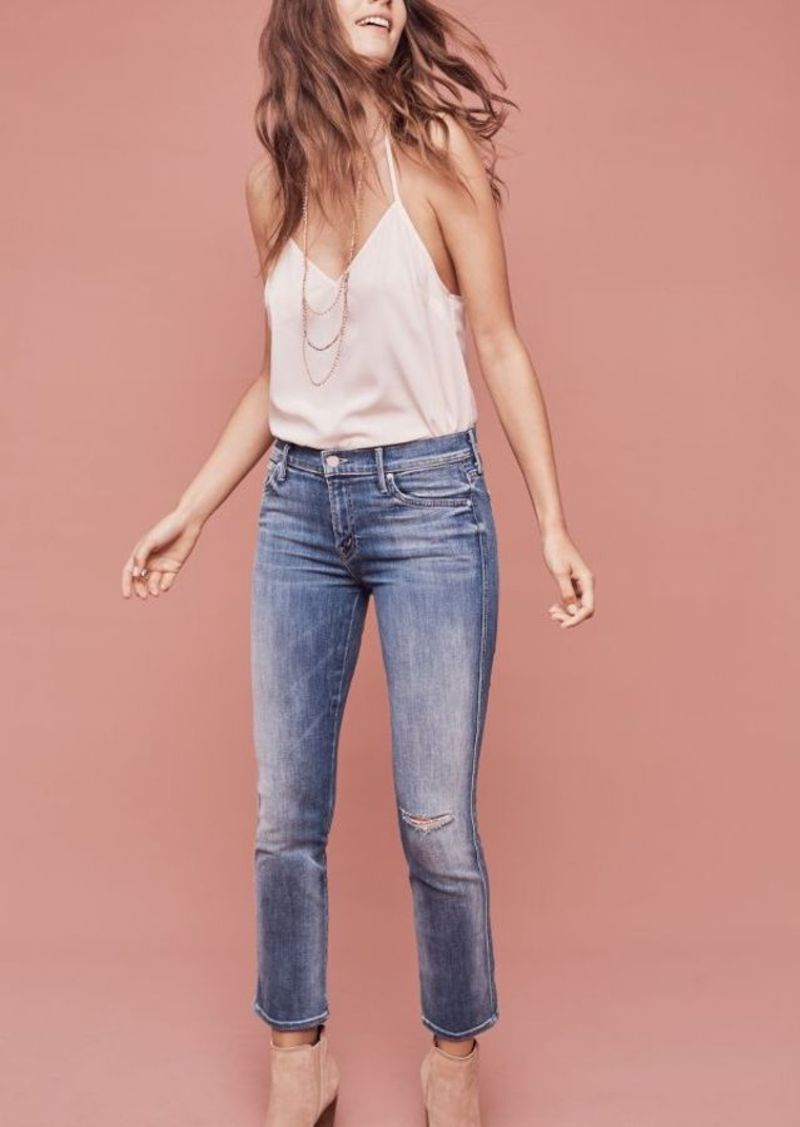 Anthropologie Mother Rascal Mid-Rise Straight Ankle Jeans
