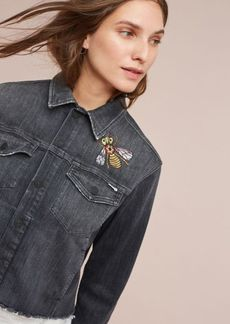 Mother Straight A Frayed Denim Jacket