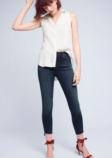 Mother Stunner High-Rise High-Low Slim Jeans