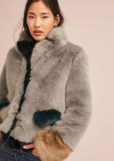 Multitonal Faux Fur Coat