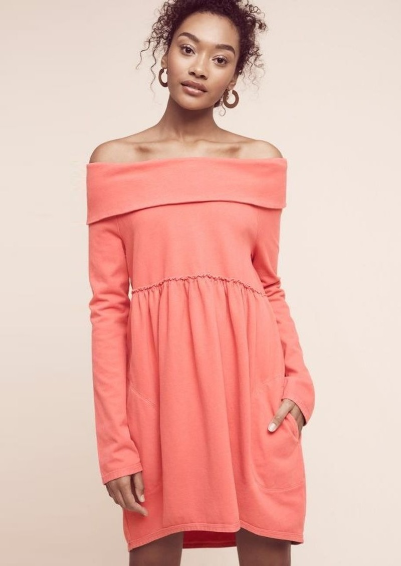 Anthropologie Off-The-Shoulder Cocoon Dress