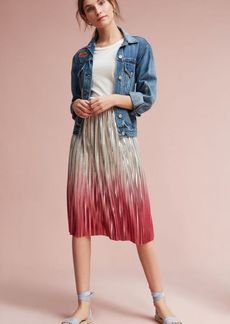 Anthropologie Ombre Pleated Skirt