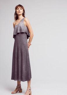 One-Shoulder Tiered Midi Dress