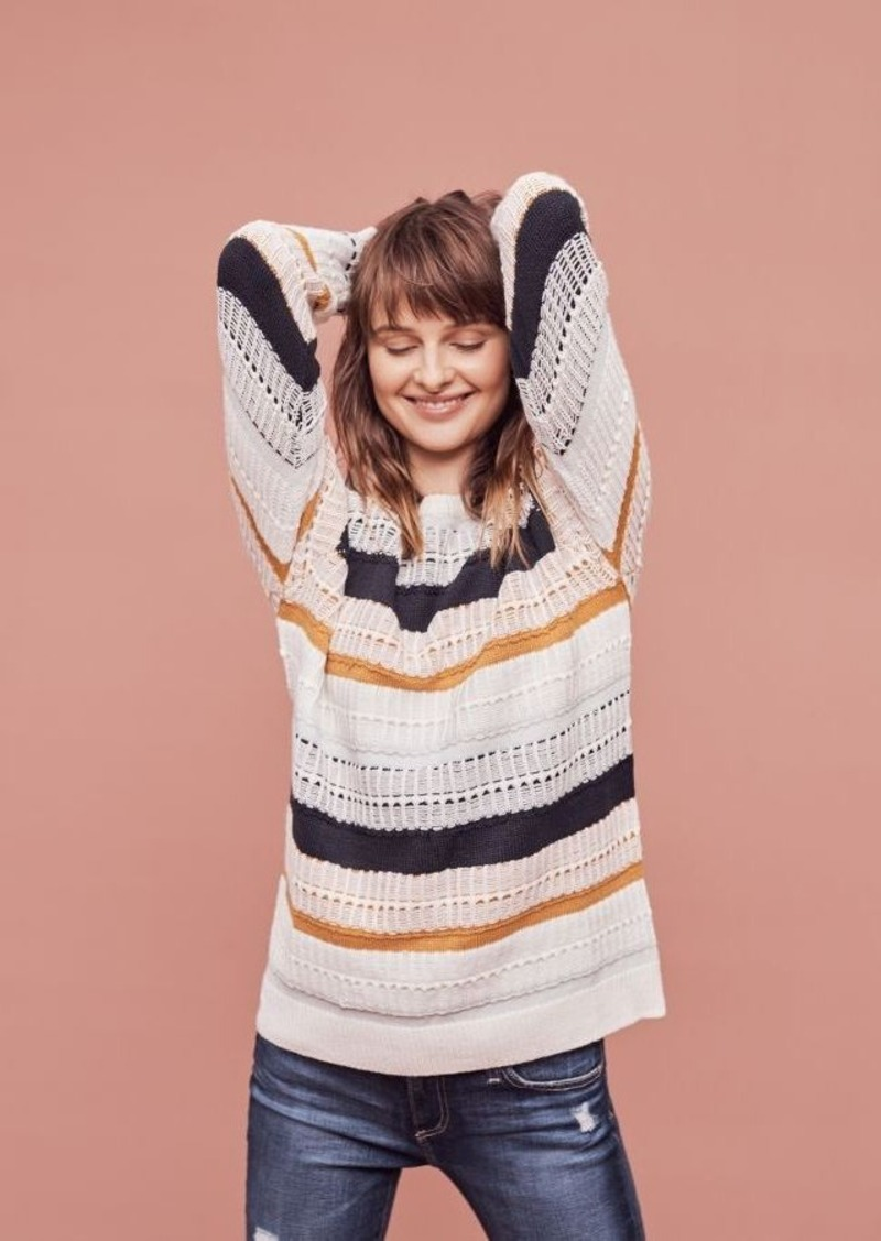 Anthropologie Orchard Stripe Pullover