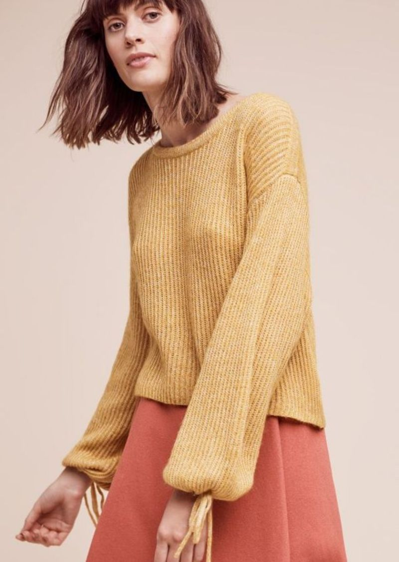 Anthropologie Papillon Balloon-Sleeve Sweater