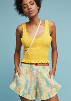 Anthropologie Pastel Yarn-Dyed Shorts