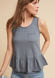 Anthropologie Peplum Pocket Tank