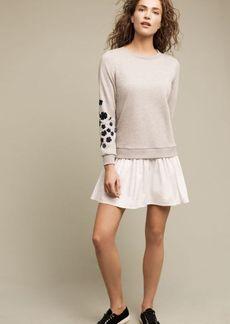 Petaled Sweatshirt Dress
