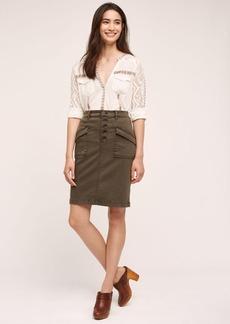 Anthropologie Pilcro Chino Pencil Skirt