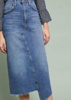 Anthropologie Pilcro Denim Midi Skirt