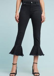 Pilcro Embellished High-Rise Slim Flounced Jeans