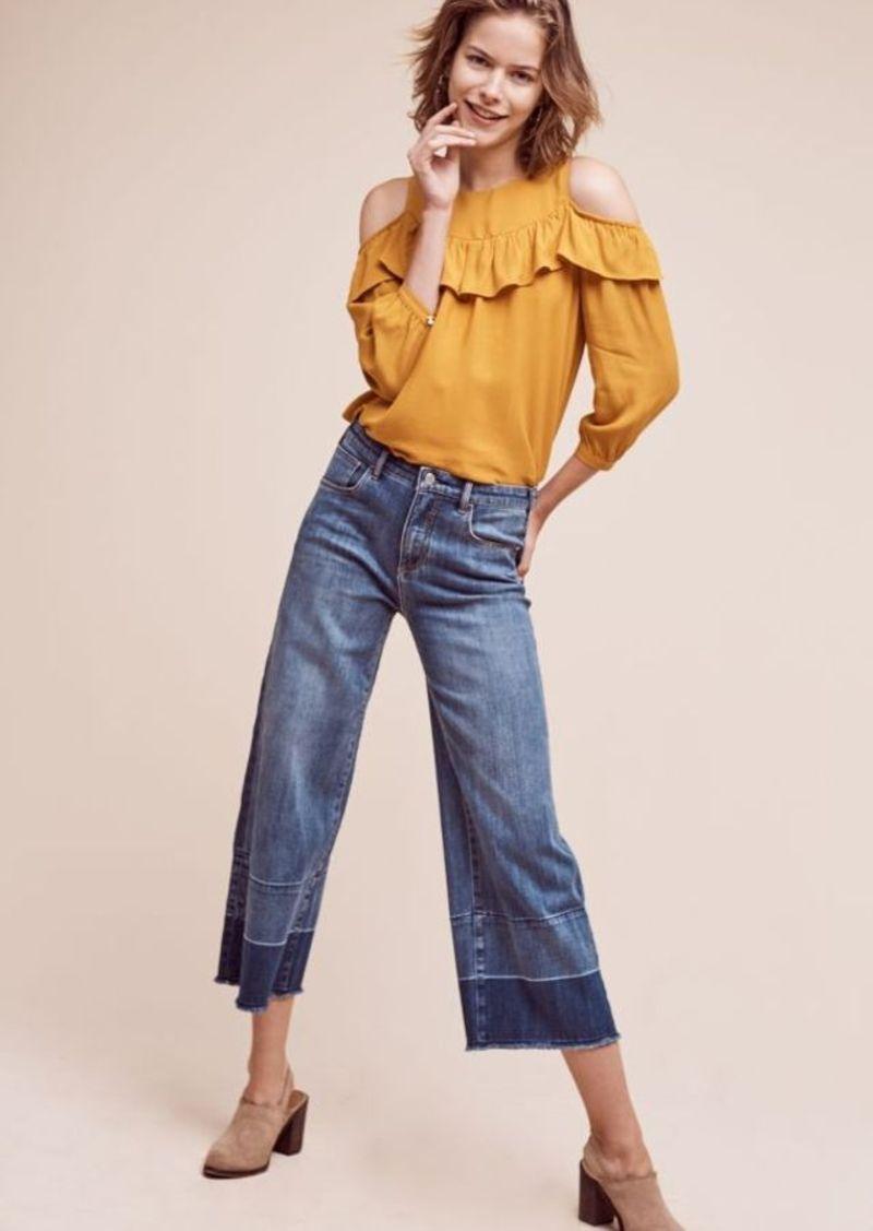 Anthropologie Pilcro High-Rise Wide-Leg Crop Jeans