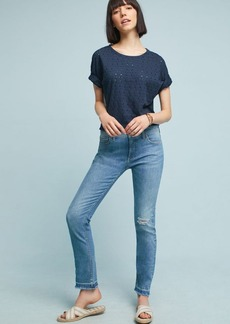 Pilcro Mid-Rise Straight Ankle Jeans