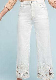 Pilcro Stet Mid-Rise Cutout Cropped Jeans