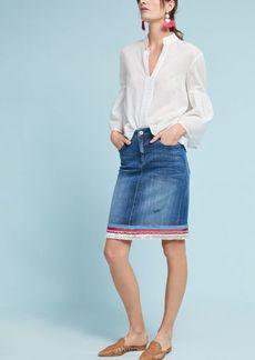 Anthropologie Pilcro Trimmed Denim Skirt