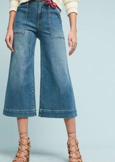 Anthropologie Pilcro Utility High-Rise Cropped Wide-Leg Jeans